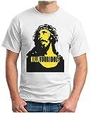 OM3 - Kill Your Idols - T-Shirt 90s Jesus Hardcore Punk Grunge Music Band New York NYC USA Swag, XXL, Weiß