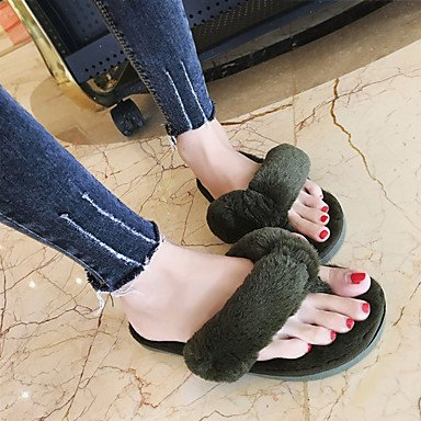 FSCHOOLY Scarpe Donna Pu Comfort Estivo Sandali Flat Per Esterni Di Rosa Blu Verde Grigio Beige Verde