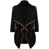 CebbayRopa de Mujer suéter Chaqueta de Abrigo de Las Mujeres Abrigo Irregular Cárdigan de Manga Larga Casual de Gran tamaño Liquidación