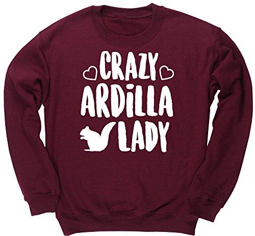 hippowarehouse-crazy-ardilla-lady-jersey-sudadera-sueter-derportiva-unisex