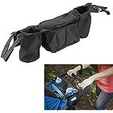 Dealglad® Universal para sillita de bebé silla de paseo Buggy Copa botella Holder Organizador para colgar bolsa de almacenamiento bolsa Negro
