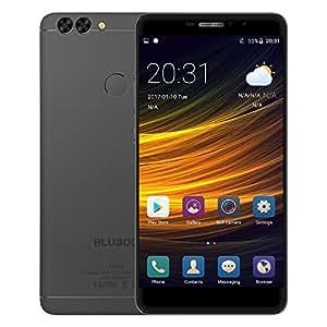 BLUBOO Dual Smartphone 4G LTE Handy 5.5 Zoll FHD Display Android 6.0 13MP Dual Kamera 2GB RAM 16GB ROM MTK6737T Quad Core 3000mAh 8mm dünn Metallgehäuse Fingerabdrucksensor Dual SIM ohne Vertrag, Schwarz