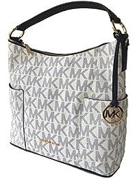 Michael Kors Anita Large Convertible Shoulder Bag Navy White