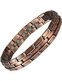 MPS ECHNATON Copper Rich Magnetic Bracelet for Men + Free Links Removal Tool
