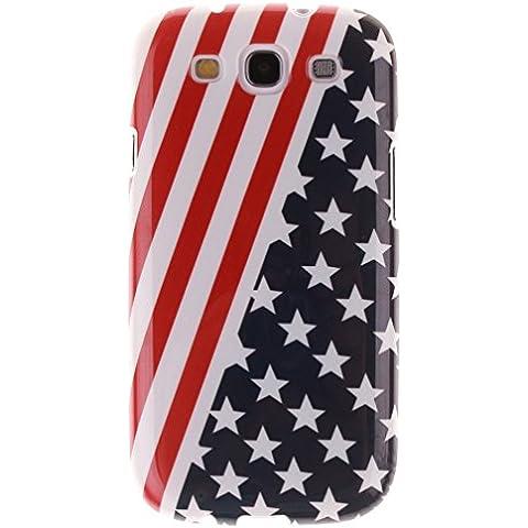 KATUMO®Galaxy S3 NEO Case, TPU Gel Silicone Custodia per Samsung Galaxy S3 NEO/ S3 I9300 Caso Cvoer con Bellissima e Moda Disegni,Bandiera americana