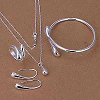 GYJUN Schmuck Halsketten / Ohrringe / Ringe / Armband Silber Geburtstag / Verlobung / Party / Alltag Sterling Silber 1 Set Damen / Mädchen