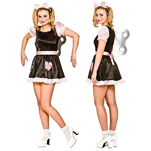 Kostüme Scary Halloween Doll Für (Wind Up Doll Women's Costume Scary Halloween Fancy)