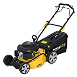 Powerplus 21' 6HP 196cc 4in1 4 Stroke Petrol Recoil Start Self Propelled Petrol Lawn Mower with 8 Cutting Heights, Single Adjust Height Lever, & 60 Litre Grass Collection Bag POWXG60250 - 3 Years Warranty