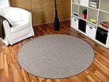 Snapstyle Schlingen Velour Teppich Primo Grau Rund in 7 Größen