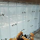 GUOCAIRONG® Tulle Vorhänge Floral Römische Vorhänge Kurze Küche Ddoor Panel Tüll Vorhänge Kurze Fenster Vorhänge Modern Voile Sheer Vorhänge Flower Style 1 Stk , 75*150cm