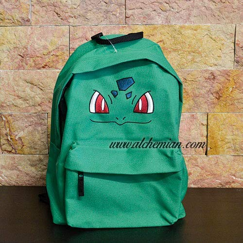 Bulbasaur, bestickter grüner Rucksack, Pokemon Pokémon
