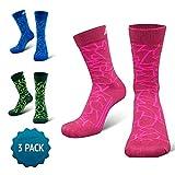 COMPRESSION FOR ATHLETES 3er Packung - CAMO Editions - Hochwertiger Quarter Socken von CFA Perfekt für alle Sportarten, Für Männer und Frauen. In der EU hergestellt. (Bordeaux Camo 3-Paare, 35-38)
