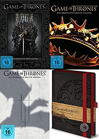 Game of Thrones Staffel 1 2 3 + Notizbuch 15 DVD Collection Geschenk Set Limited Edition (Taylor Sammlung)