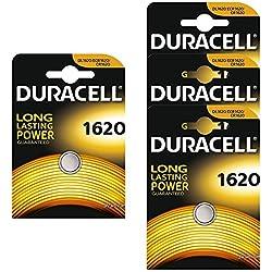 Duracell CR1620 Lot de 4 piles bouton Lithium 3 V