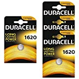 Four (4) X Duracell CR1620 Lithium Coin Cell Battery 3v Blister Packed