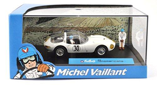 DieCast Metall Miniaturmodelle Modellauto 1:43 Michel Vaillant Comic Collection Vaillante Panamericana Altaya inklusive Figuren und Kunststoff Vitrine