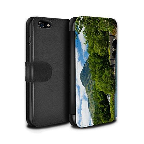 Stuff4 Coque/Etui/Housse Cuir PU Case/Cover pour Apple iPhone 7 / Loch/Vallée Design / Campagne Écossais Collection Pont/Montagne