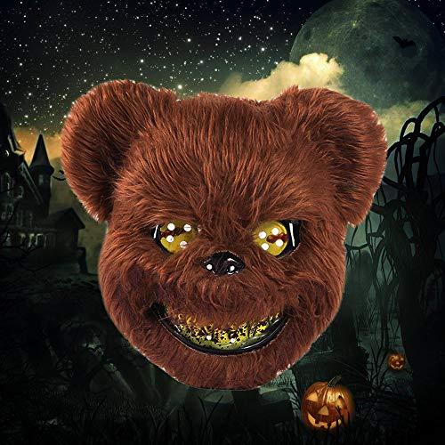 Brown Bear Kostüm - luckystoreme Halloween Maske Kostüm blutiger Horror Gruselige Gesichtsmaske für Cosplay Kostüm Party Brown Bear