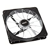 NZXT FZ-140mm LED Computer case Fan - computer cooling components (Computer case, Fan, Black, White, LED, White)