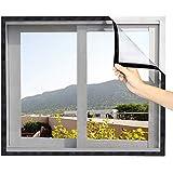 Eageroo Doe-het-zelf zelf afgesneden vliegennet zonder boren insectenbescherming klittenband vliegengaas raam met klittenband