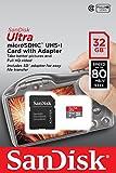 SanDisk Ultra Imaging microSDHC 32GB bis zu 80MB/Sek Class 10 Speicherkarte + SD-Adapter
