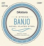 D'Addario EJ60NY Cordes pour Banjo 9-20 Light