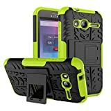 PIXFAB Alcatel U3 3G 4049X Green Dual Layer Hybrid Tough
