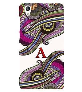 Fabcase abstract colourful vibrant design alphabet A Designer Back Case Cover for Vivo Y51 :: VivoY51L