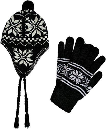 Norweger Winterhandschuhe und Wintermütze im Set für Damen und Herren