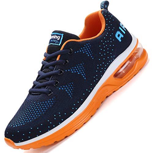 Flarut Unisex Uomo Scarpe da Ginnastica Corsa Sportive Fitness Donna Running Sneakers Basse Interior Air Casual all'Aperto(Blu,42)