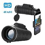 Télescope monoculaire, Winkey Caméra Zoom Optique 40x 60HD Télescope avec Clip pour iPhone/Téléphone Universel, Monoculaire pour Observation des Oiseaux/Chasse/Camping/Randonnée