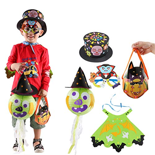 5 Set Halloween Kostüme für Kinder DIY Dress up Party Requisiten für Kinder Karneval Dekor Halloween Party