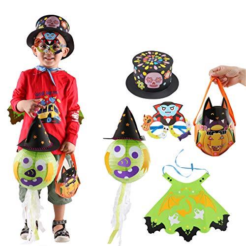 5 Set Halloween Kostüme für Kinder DIY Dress up Party Requisiten für Kinder Karneval Dekor Halloween ()
