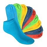 10 Paar SNEAK IT! KIDS Kinder Sneaker Socken für Mädchen & Jungen Trendfarben-31-34