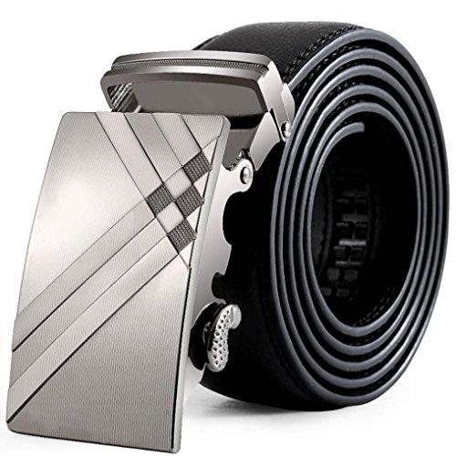 Herren Gürtel Automatik Ratschen Gürtel 3,5 cm ❤️breiter Ledergürtel für Herren Schnalle Gürtel Mode Hüftgurt Gürtel Bund (Jeans Eagle American)