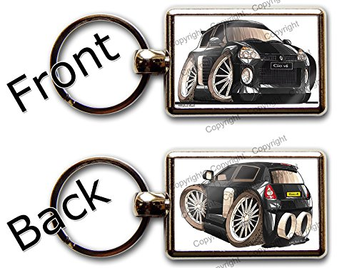 renault-clio-v6-sports-car-official-koolart-quality-chrome-keyring-different-picture-each-side-any-c