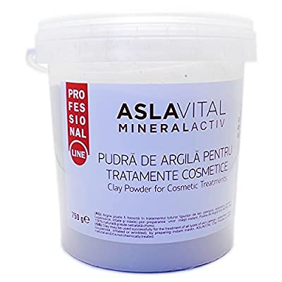 Aslavital MineralActiv Clay Powder for Cosmetic Treatments- PROFESSIONAL LINE 750 gr from Farmec