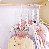 Murieo Platzsparende Kleiderbügelhalter mit 5 Schlitze, Wonder Hanger Kleiderbügel Magic Kleiderschrank Display Garderobe Organizer (1 Pcs/Weiß)