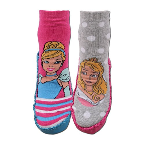 Disney Chaussons Chaussettes Lot de 2 Princess