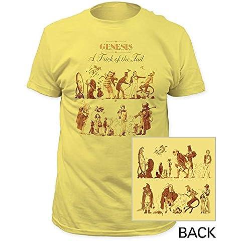 Genesis - Men ist ein Trick Of The Tail Einbau Jersey T-Shirts, Large, Banana