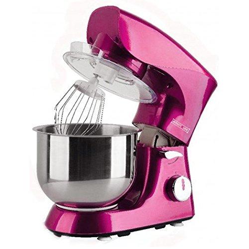 Mixer impastatrice Royalty Line da 1400 W con 5 velocità. Impastatore orbitale colore rosa pink