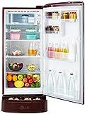 LG 190 L 4 Star Direct-Cool Single Door Refrigerator (GL-D201ASOX.ASOZEBN, Scarlet Orchid,Base Stand with Drawer,Inverter Compressor)