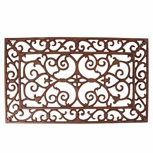 Esschert Design antik S Türmatte, Gusseisen, braun, 58,2 x 34 x 1,8 cm