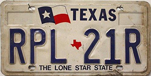 USA Nummernschild TEXAS ~ US Kennzeichen LICENSE PLATE Motiv Fahne ~ Blechschild