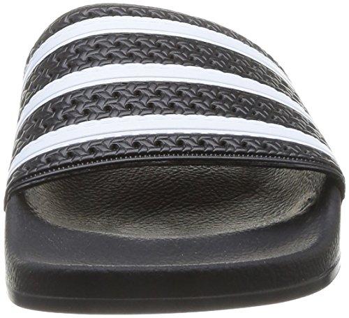 Adidas Originals Adilette, Chaussures de Plage & Piscine Adulte Mixte Noir (Black/White/Black)