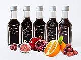 Balsamico Creme Set mit ● Dattel Balsamico Creme ● Balsamico Cranberry 5 x 20 ml