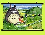 Wallscrolls-Wonderland My Neighbor Totoro Poster Anime Rollbild Wandposter Stoffposter Wallscroll Tapete Geschenk 60x40CM