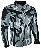 HEYBERRY Touren Motorrad Jacke Motorradjacke Textil Camouflage weiss Gr. 7XL