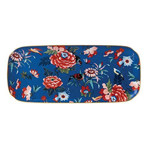 Wedgwood 40032132 Paeonia Blush Sandwich-Tablett, groß, Blau Porzellan Serveware