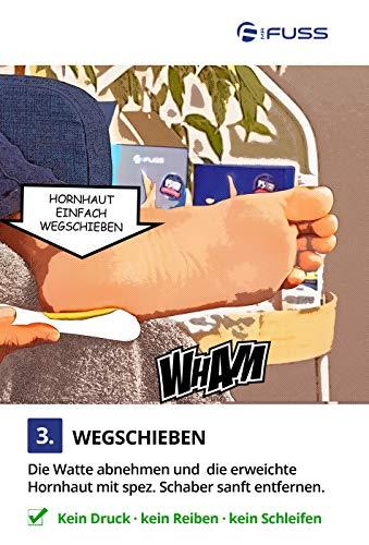 Mr. Fuss Hornhautentferner Lösung zur sanften Hornhautentfernung Schnell erweichende Lotion 250ml No. 4 im Plus Pack. Fußpflege Pediküre Set ohne Schleifen mit Sofort-Effekt.